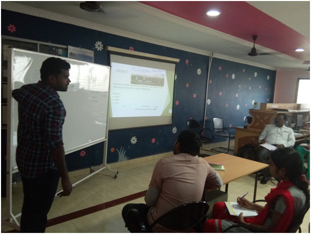 WORKSHOP FOR M ARCH CPM STUDENTS ON MS PROJECT SOFTWARE